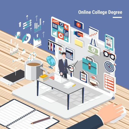 Online college degree.